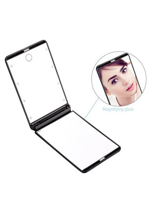 Picture of LED Lighted Makeup Mirror Portable Touch Screen Make Up Cosmetic Mirror