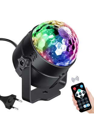Picture of LED Music Party Light Rotating Lamp With Remote Control 1 Piece EU Plug Lighting - Size: One Size