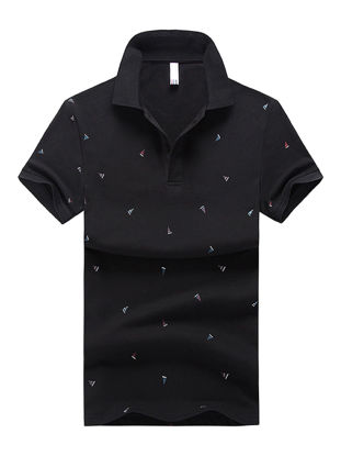 Picture of Men's Polo Shirt Comforty Casual Chic Design Short Sleeve Polo Shirt - Size: XL