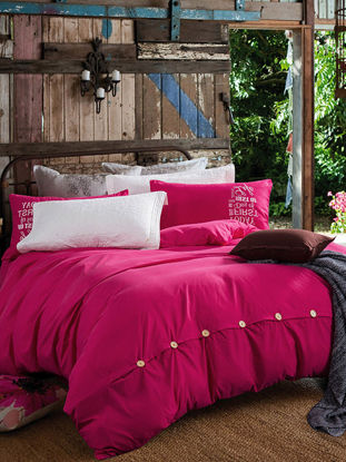 Picture of 4Pcs Bed Sheet Set Luxuriant Design Solid Comfortable Bedding Set - Size: 245*250(W*L)cm