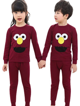 Picture of Boys and Girls 1 Set Brother & Sister Family Outfits Color Block Animal Pattern Pajamas Set Family Outfits - Size: Reference Height:Boy 140cm