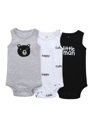 Picture of Baby 3 Pcs Baby's Rompers Cute Cartoon Stylish Breathable Clothes- Size: 6M