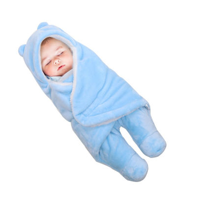 Picture of 1Pc Baby's Swaddling Modern Cartoon Adjustable Soft Hooded Blanket- Size: S