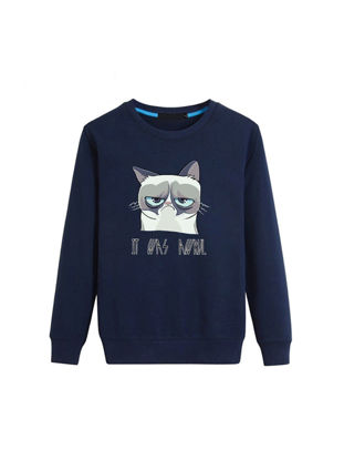 صورة Men's Plus Size Sweatshirt Casual Long Sleeve Pullover Sweatshirt- Size: L