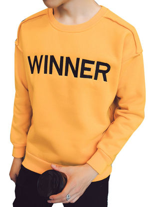 صورة Men's Sweatshirt O Neck Long Sleeve Brief Casual Fashion Sweatshirt- Size: XL