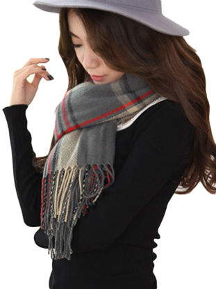 Picture of Fringe Lady Cashmere Feel Super Soft Scarf