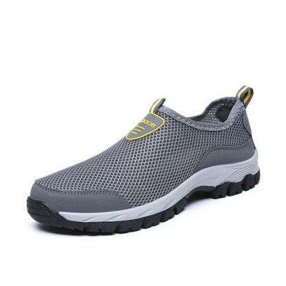 Picture of Men's Trekking Shoes Hollow Out Breathable Anti Skidding Wearable Comfy Outdoor Shoes - Size: 40