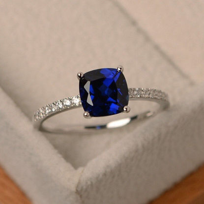 Picture of Women's Fashion Ring Zircon Ladylike Elegant Ring Accessory - Size: 6