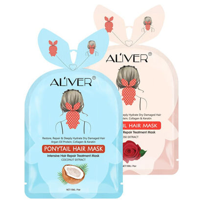 Picture of 2 Pieces Women's Ponytail Hair Mask Magical Plant Extracts Repair Damage Hair Root Tonic 15ml/Bag