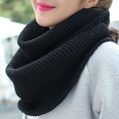 Picture of Women's Scarf Solid Color Knitted Scarf - Size: One Size