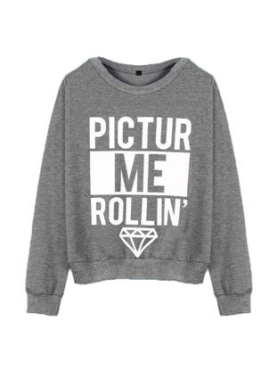 Picture of O Neck Long Sleeve Letter Print Sweatshirt - Size: XL