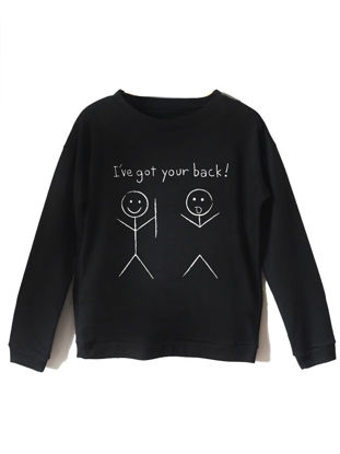 Picture of Women's Sweatshirt Comfy Letter Print Loose All Match Casual Sweatshirt - Size: S