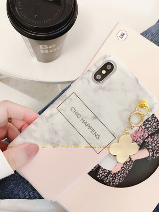 Picture of iphone7 plus Cover Marble Grain Phone Case With Pendant - Size: iphone7 plus