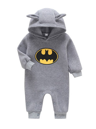 Picture of Toddler Boys Baby's Romper Adorable Design Hooded Casual Romper - Size: 80cm