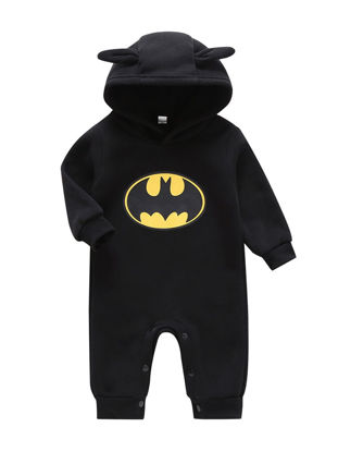 Picture of Toddler Boys Baby's Romper Adorable Design Hooded Casual Romper - Size: 90cm