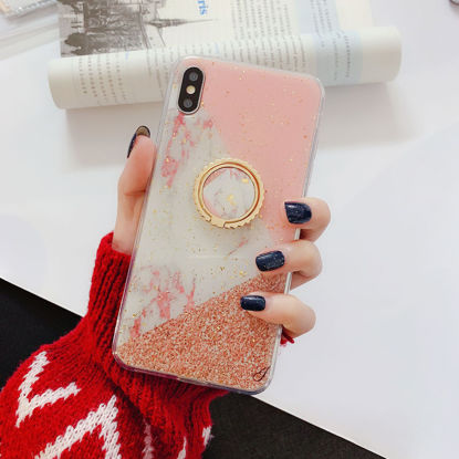 Picture of iphone7 plus Cover Sweet Style Pink Marble Pattern Case - Size: iphone7 plus