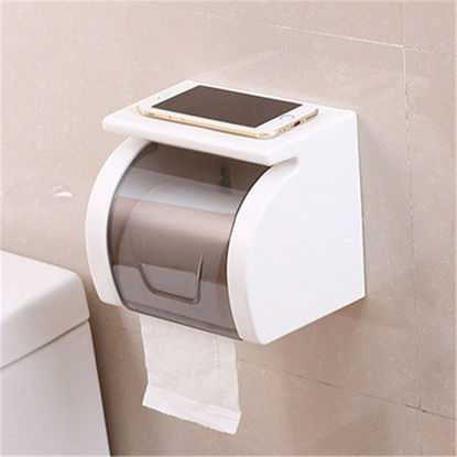 Picture of Bathroom Tissue Box Seamless Waterproof Paper Roll Holder - Size: One Size