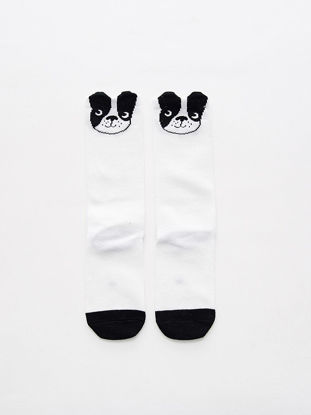 Picture of Baby Girl's Socks Bulldog Pattern Cute 1 Pair Baby Accessory - Size: S