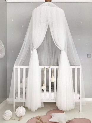 Picture of Kid's Room Decorative Bed Tent Princess Style Solid Round Mosquito Net - Size: One Size