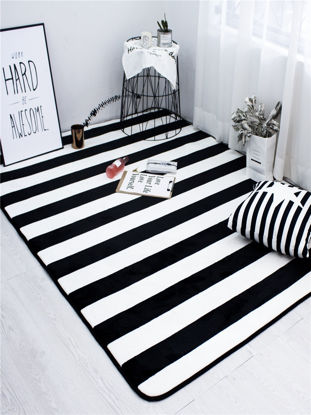 Picture of 1Pc Living Room Mat Striped Pattern Simple Modern Style Mat - Size: 190*230cm