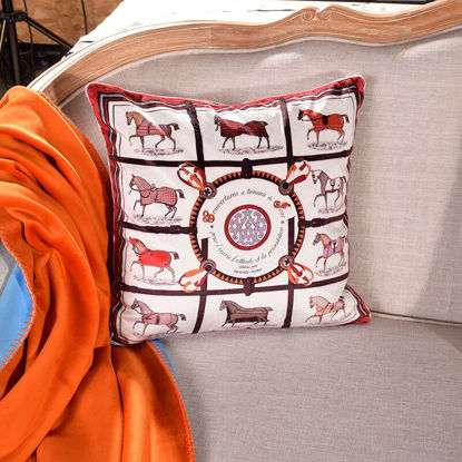 Picture of 1Pc Cushion Case Comforable Double Side Embroidery Geometry Pattern Simple Style Soft Bedding - Size: 45*45(W*L)cm