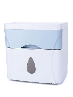 Picture of Creative Bathroom Tissue Box Double Layers Multi Functional Waterproof Tissue Organizer Storage Box