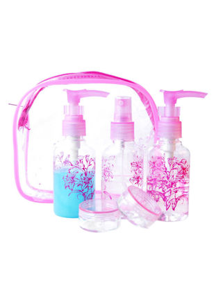 Picture of 5Pcs Exquisite Useful Traveling Makeup Bottles Clear Empty Bottles