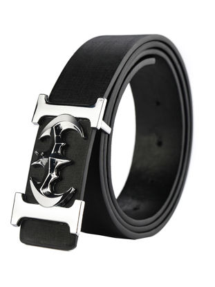 Picture of Men's Belt Creative Pattern Smooth Buckle Personalized Belt Accessory - Size:110cm