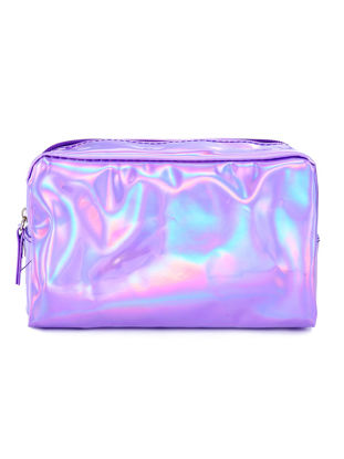 Picture of 1Pc Cosmetic Bag Simple Style Chic Color Convenient Storage Bag
