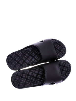 Picture of Indoor Slippers Solid Color Hollow Out Non Slip Bathroom Home Slippers - Size:38-39