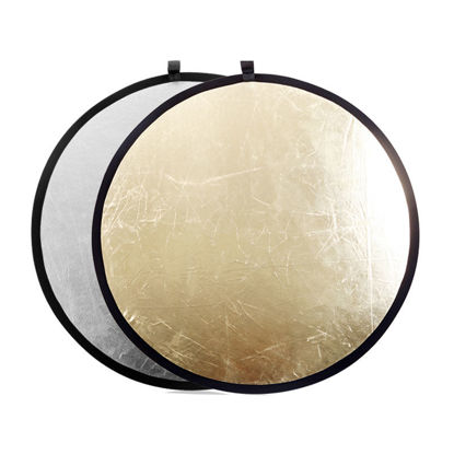 Picture of 60cm Portable Photo Reflector 2-In-1 Silver/Gold Foldable Photographic Reflector