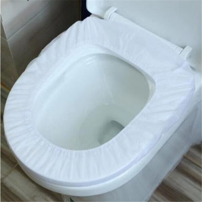 Picture of 20 Pcs Travel Disposable Toilet Seat Covers Convenient Single Use Toilet Seat Covers - Size:One Size