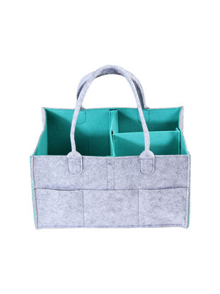 Picture of 1 Pc Portable Baby Diaper Storage Bag Wool Felt Durable Multifunctional Storage Bag-