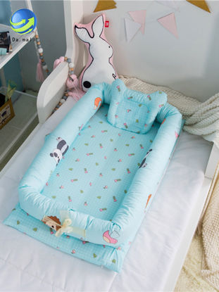 Picture of Baby's  Folding Bed Detachable Isolation Bed Cartoon Pattern Soft Baby's Product-Size: One Size