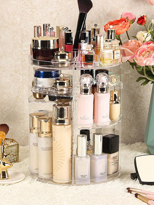 Picture of 1Pc Cosmetic Storage Shelf Large Capacity Makeup Container-Size: One Size