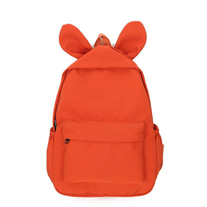 Picture of Girl's Backpack Large Capacity Preppy Zipper Closure Simple BagSize: One Size