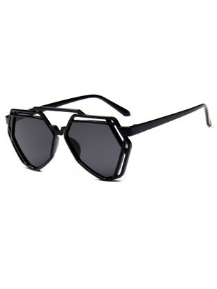 Picture of Women's Sunglasses Retro Hollow Out Full Rim Geometry Frame Glasses-Size: One Size