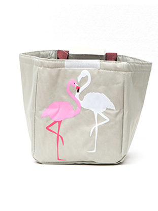 Picture of 1Pc Lunch Bag Cartoon Flamingos Pattern Waterproof Portable Insulated Bag-Size: One Size
