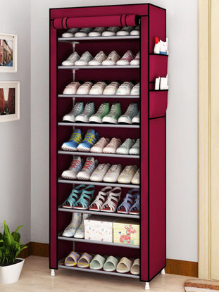 Picture of 1Pc Simple Shoe Cabinet Shoe Dust Cover Folding Creative Home Shoe Cabinet-Size: One Size