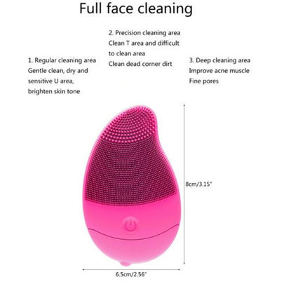 Picture of Silicone Facial Cleanser Brush Pore Cleans Skin Care Cleansing Tool