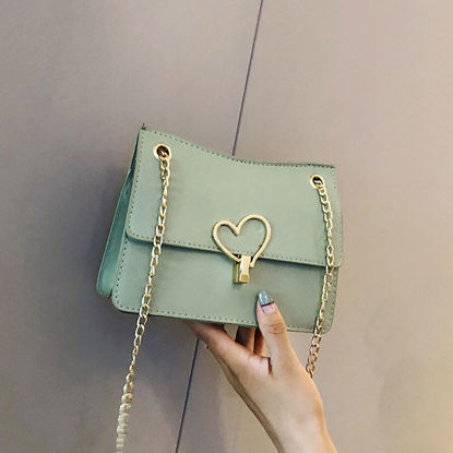 Picture of Women's Crossbody Bag Solid Color Heart Decor Plain Style Bag-Size: One Size