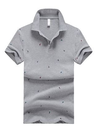 Picture of Men's Polo Shirt Comforty Casual Chic Design Short Sleeve Polo Shirt-Size: XL