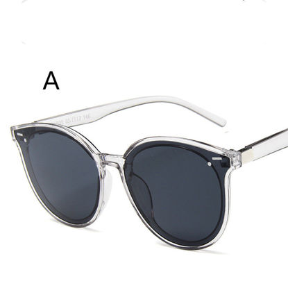 Picture of Men's Sunglasses UV Protection Big Round Frame Chic Eyewear-Size: One Size