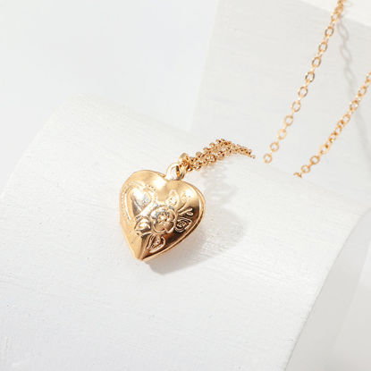Picture of Women's Fashion Necklace Heart Shaped Decor Brief Design Necklace AccessorySize: One Size