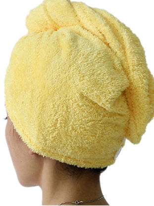 Picture of Women Bathroom Water Absorbent Quick-drying Hair Dry CapSize: one size