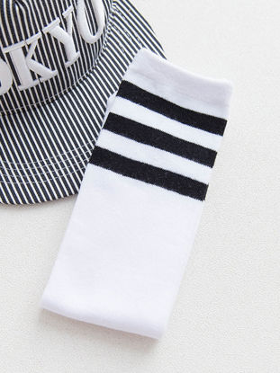 Picture of Kid's Socks Athletic Striped Breathable Comfy Stylish SocksSize: 28cm
