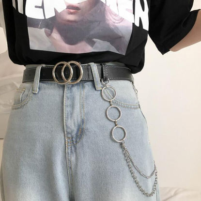 Picture of Women's Jeans Belt Punk Style Solid Color Jeans Belt-Size: One Size