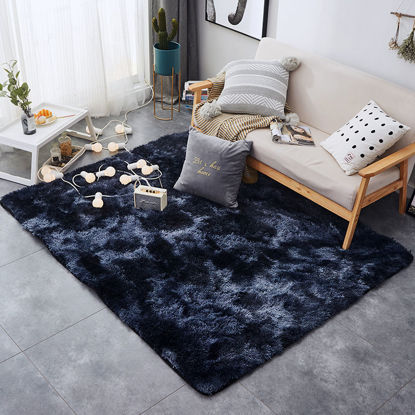 Picture of Soft Plush Floor Mat Simple Solid Color Home Living Room Bedroom Carpet-Size: 80*185(W*L)cm