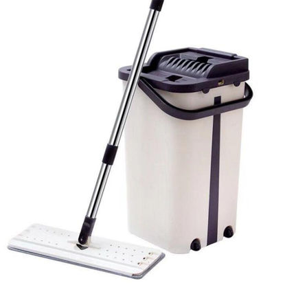 Picture of 1Pc Home Cleaning Mop Vibrating Explosion Scraping Mop With Bucket-Size: One Size