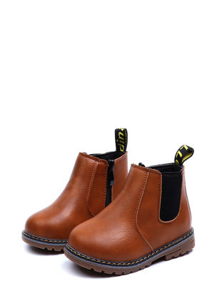 Picture of Boy's/Girl's Ankle Boots Round Toe Vintage Kids BootsSize: 29
